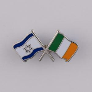 Ireland Israel Lapel Pin