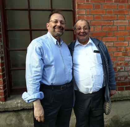 Ira Siegal and his third cousin, Eddie at the Irish Jewish Museum