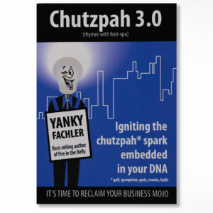 Book cover – Chutzpah 3.0 – by Yanky Fachler
