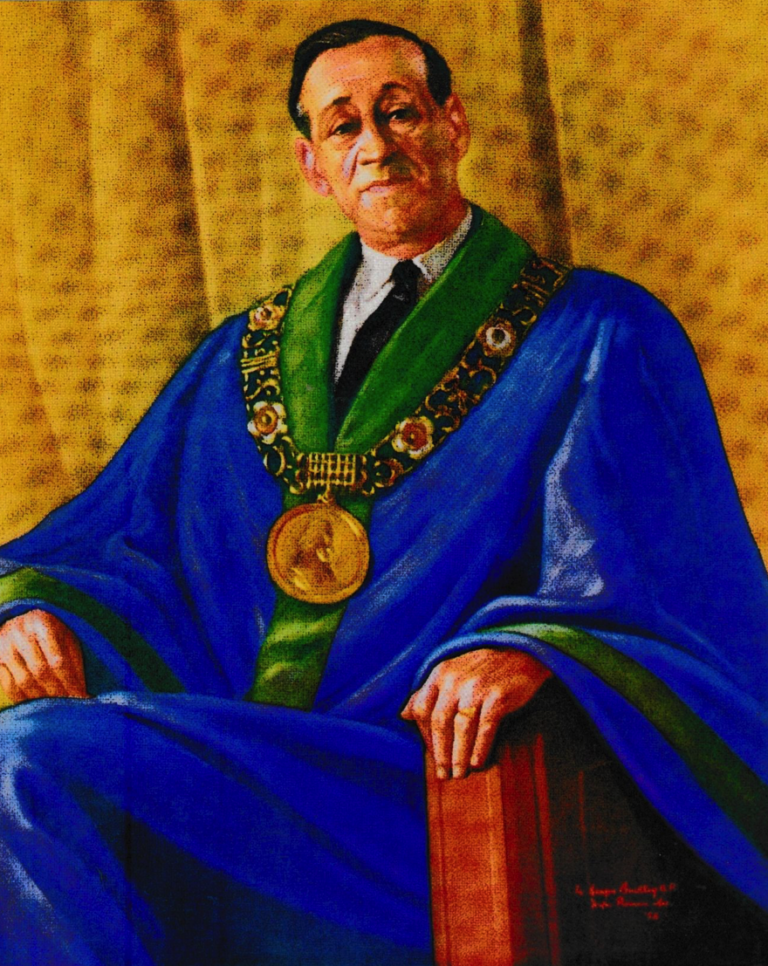 Painting of Mayor Robert Briscoe