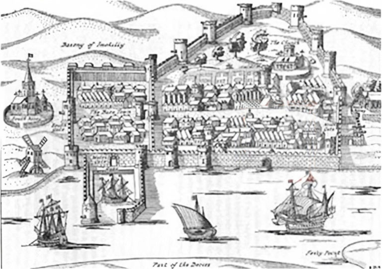 The Towne of Youghal, October 1588, Lithograph