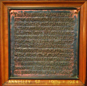 Annesley St Synagogue Plaque