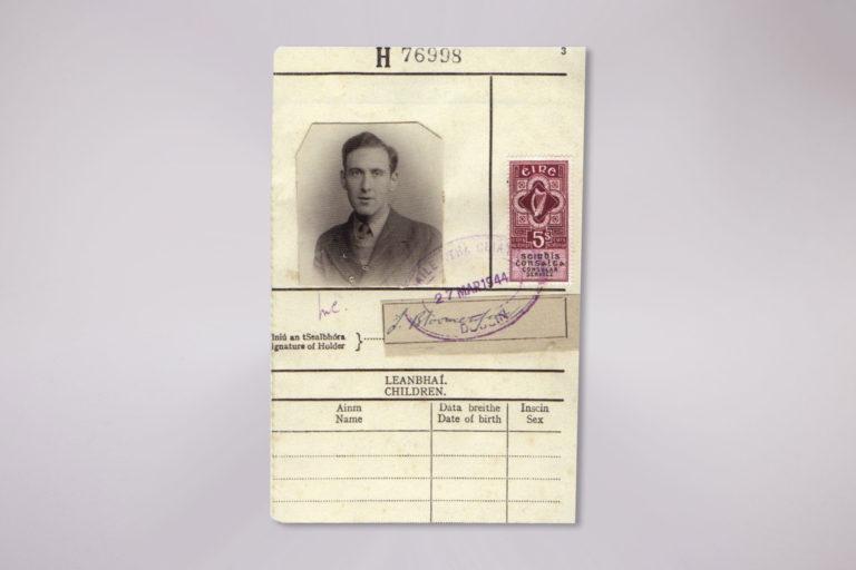WWII Travel Permit Card - Photo