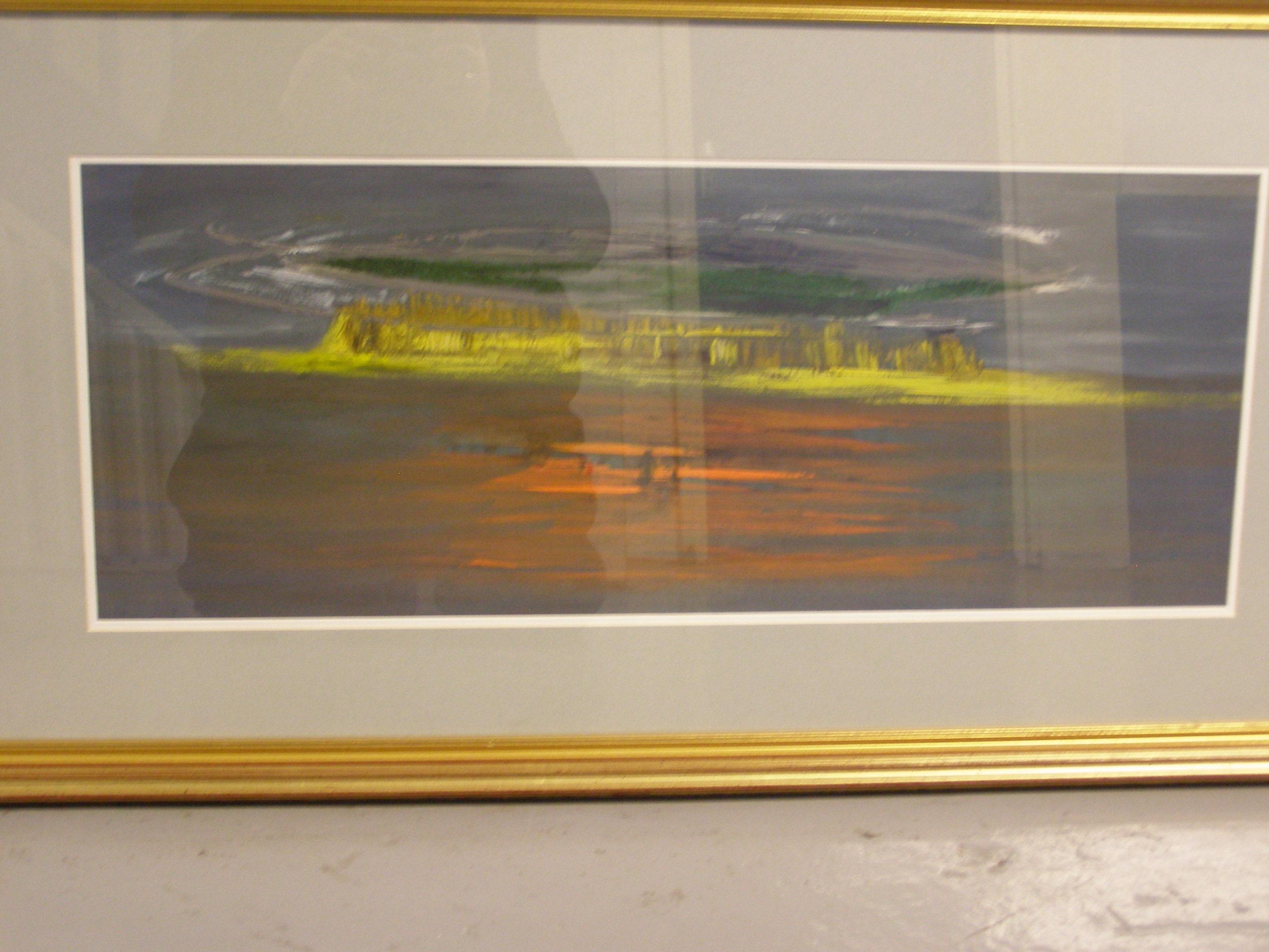 Sam Wasserman painting in storage