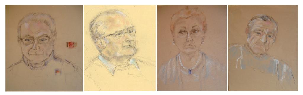 Portraits of Tomi Reichental, Zoltan Zinn-Collis, Suzi Diamond & Jan Kaminiski
