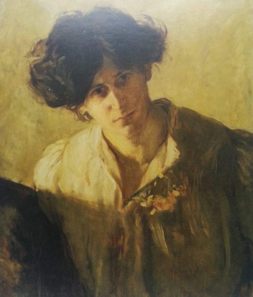 Self portrait of Estella Solomons