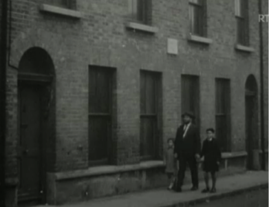 Father Walking his Children to Synagogue